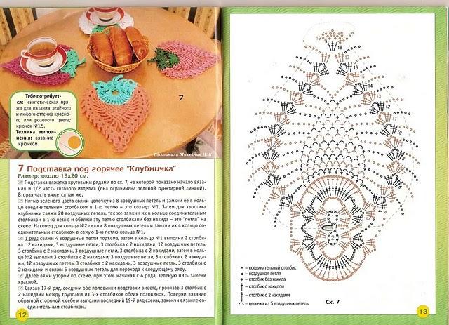 Крючок вязание прихваток схемы и описания