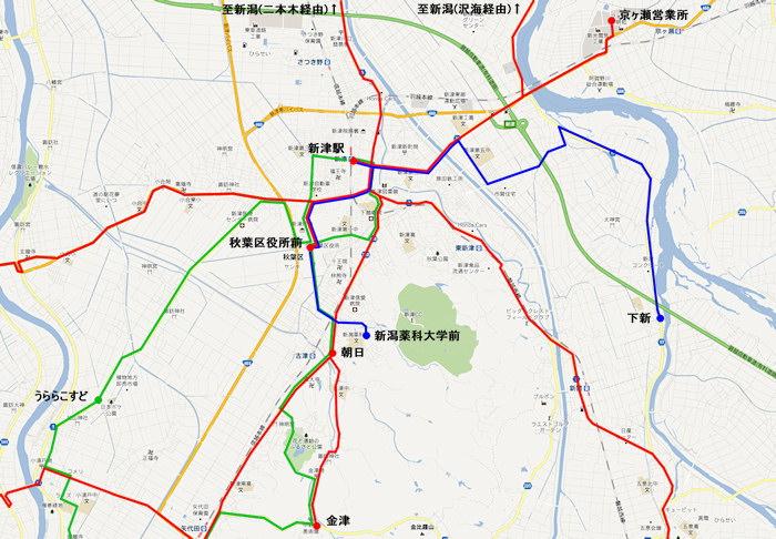 新津駅バス路線図