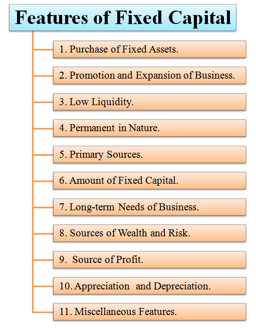 features of fixed capital