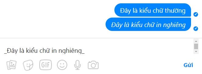 kieu chu in nghieng tren facebook messenger - Hướng Dẫn Đổi Kiểu Chữ Đẹp trên FaceBook Messenger