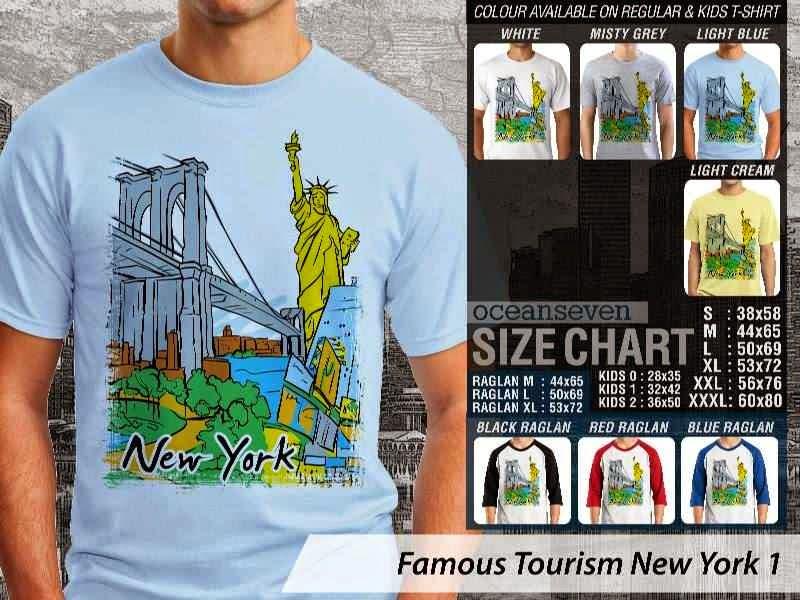 Jual Kaos Wisata New York 1 Amerika distro ocean seven