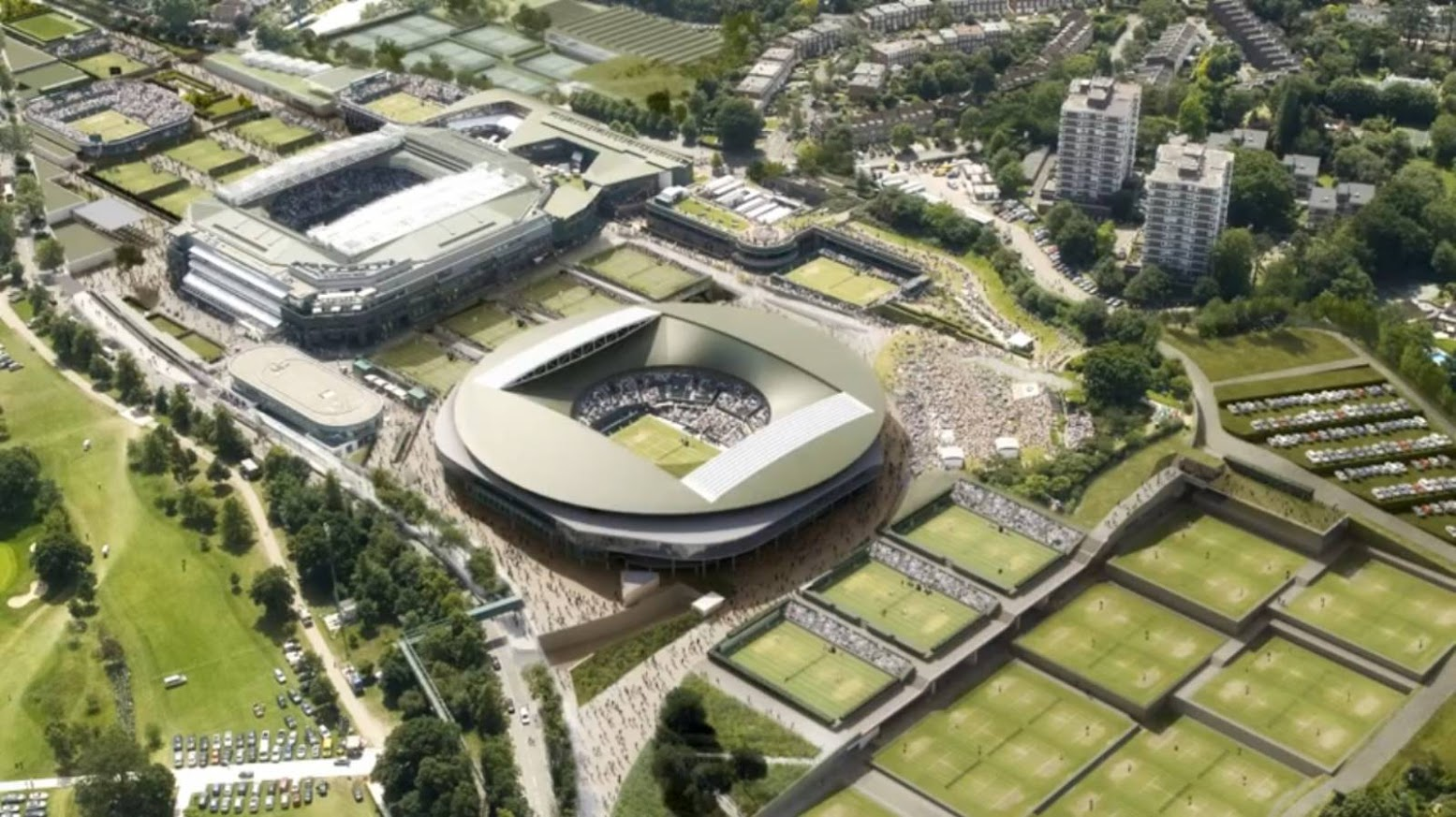 Londra, Regno Unito: [WIMBLEDON MASTER PLAN BY GRIMSHAW ARCHITECTS]