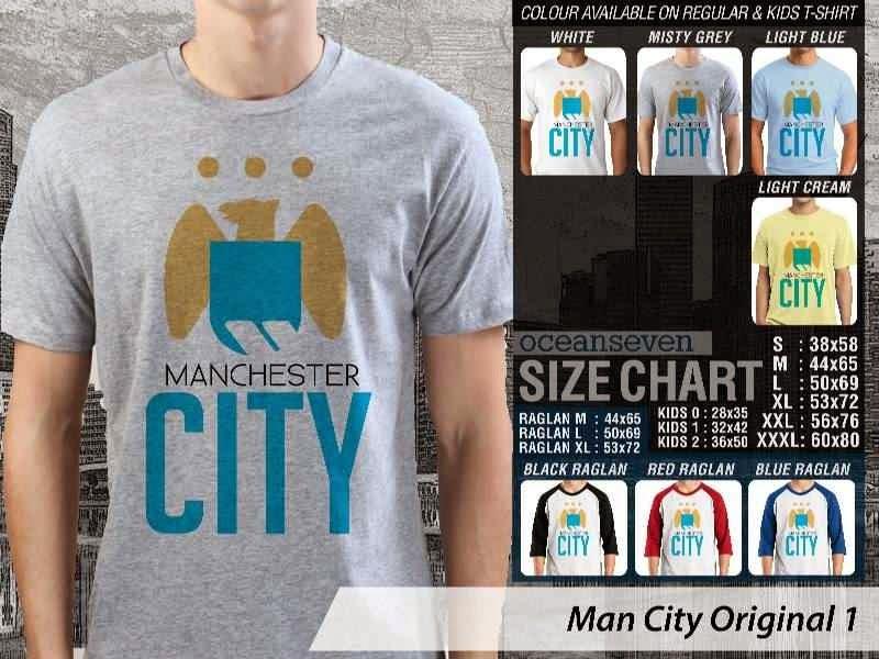 KAOS Man City Manchester City 33 Logo Klub Bola distro ocean seven