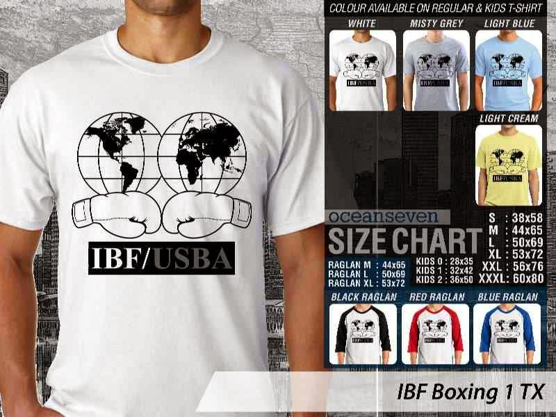 Kaos Olah Raga Sport IBF Boxing 1 distro ocean seven