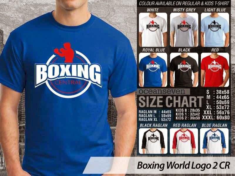 Kaos Olah Raga Sport Boxing World Logo 2 distro ocean seven