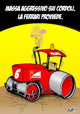 Фелипе Масса и его Ferrari - комикс Baffi по Гран-при Индии 2011