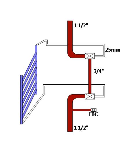 Схема теплообменника редиатора с нижней подводкой можно ли использовать теплообменник для отопления