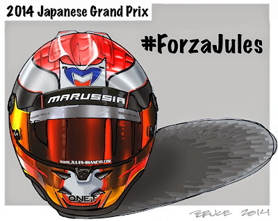 #ForzaJules Жюль Бьянки - комикс Bruce Thomson по Гран-при Японии 2014