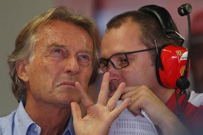 Лука ди Монтедземоло и Стефано Доменикали секретничают на Гран-при Италии 2013