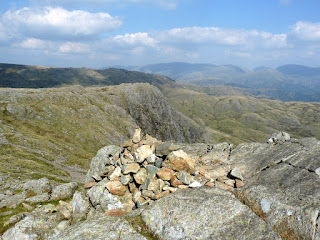 Harrison Stickle Summit looking to Pavey Ark