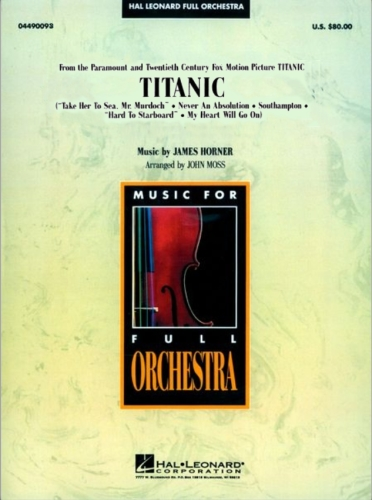 (Оркестр / Партитура / Саундтрек) James Horner - Titanic / Джеймс Хорнер - Сюита на темы из фильма Титаник (Arranged by John Moss) [PDF, ENG]
