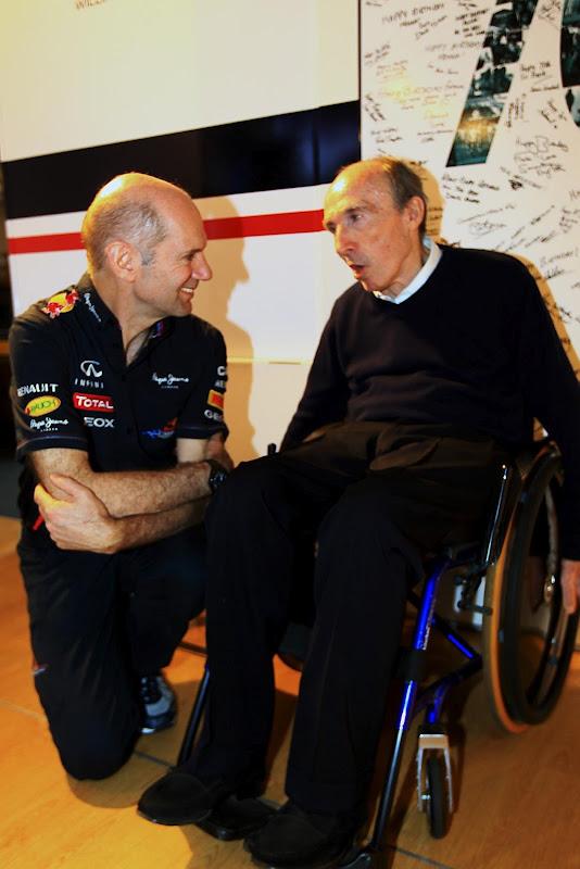 Эдриан Ньюи Фрэнк Уильямс на праздновании 70-летия на Гран-при Испании 2012