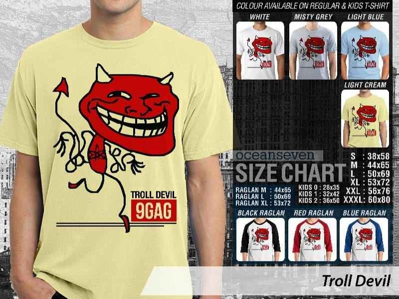 Jual Kaos 9Gag Lucu Meme Troll Devil distro ocean seven