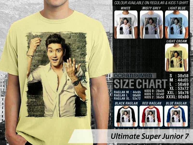 Kaos K Pop SUJU Ultimate Super Junior 7 Boy Band Asal Korea distro ocean seven