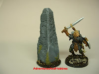 Arcane stone with carved writing Fantasy war game terrain and scenery