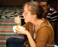 Eating kulfi http://indiafoodtour.com  http://foodtourindelhi.com
