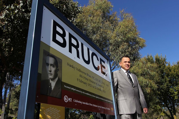 suburb signage and Chris Bourke