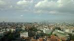 Foto outdoor dari lantai 10 Gedung Graha Pena Indo Pos. Foto terhalang kaca