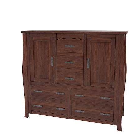 Cascade Wardrobe Dresser, Chocolate Cherry