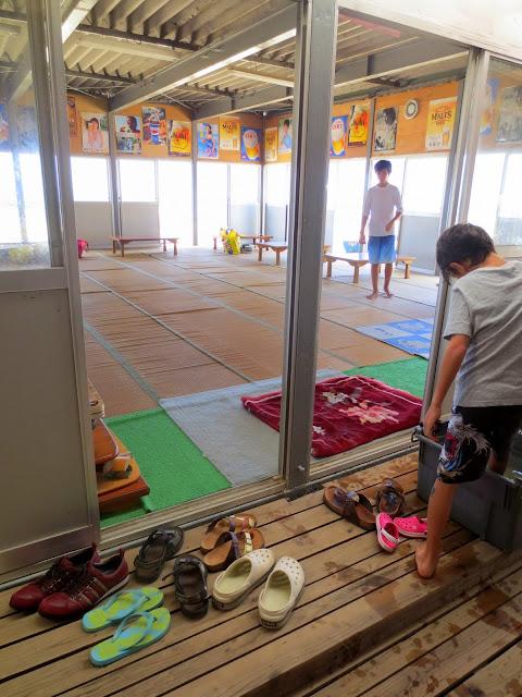 The beach hut at Shingu beach - no sandy feet, please!