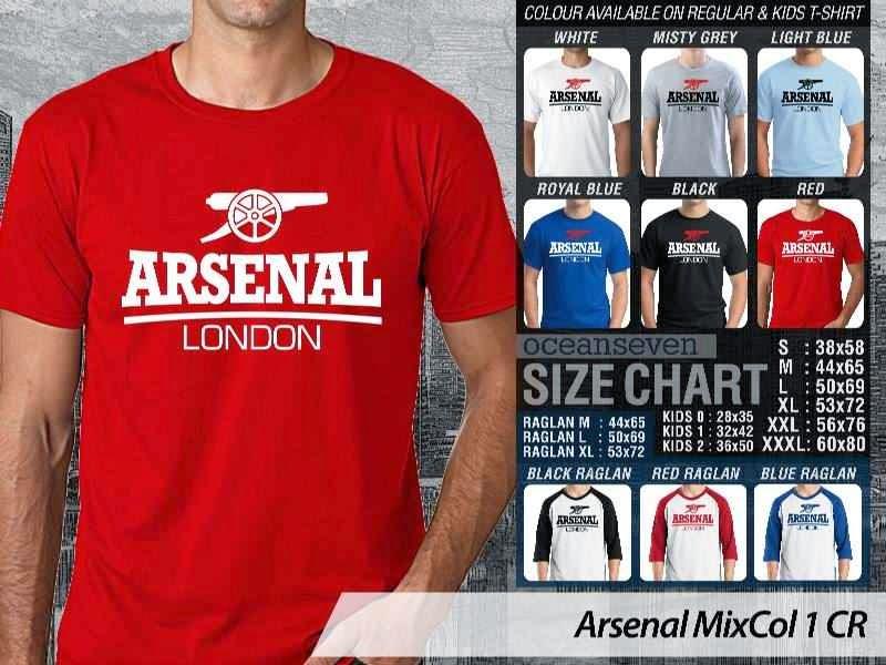 Kaos Bola Arsenal 15 Liga Premier Inggris distro ocean seven