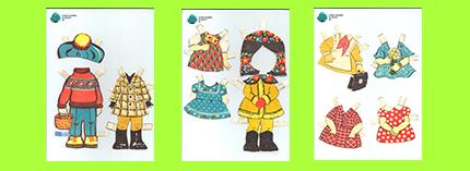 Платья Одежда для бумажных кукол СССР Аня и Ваня