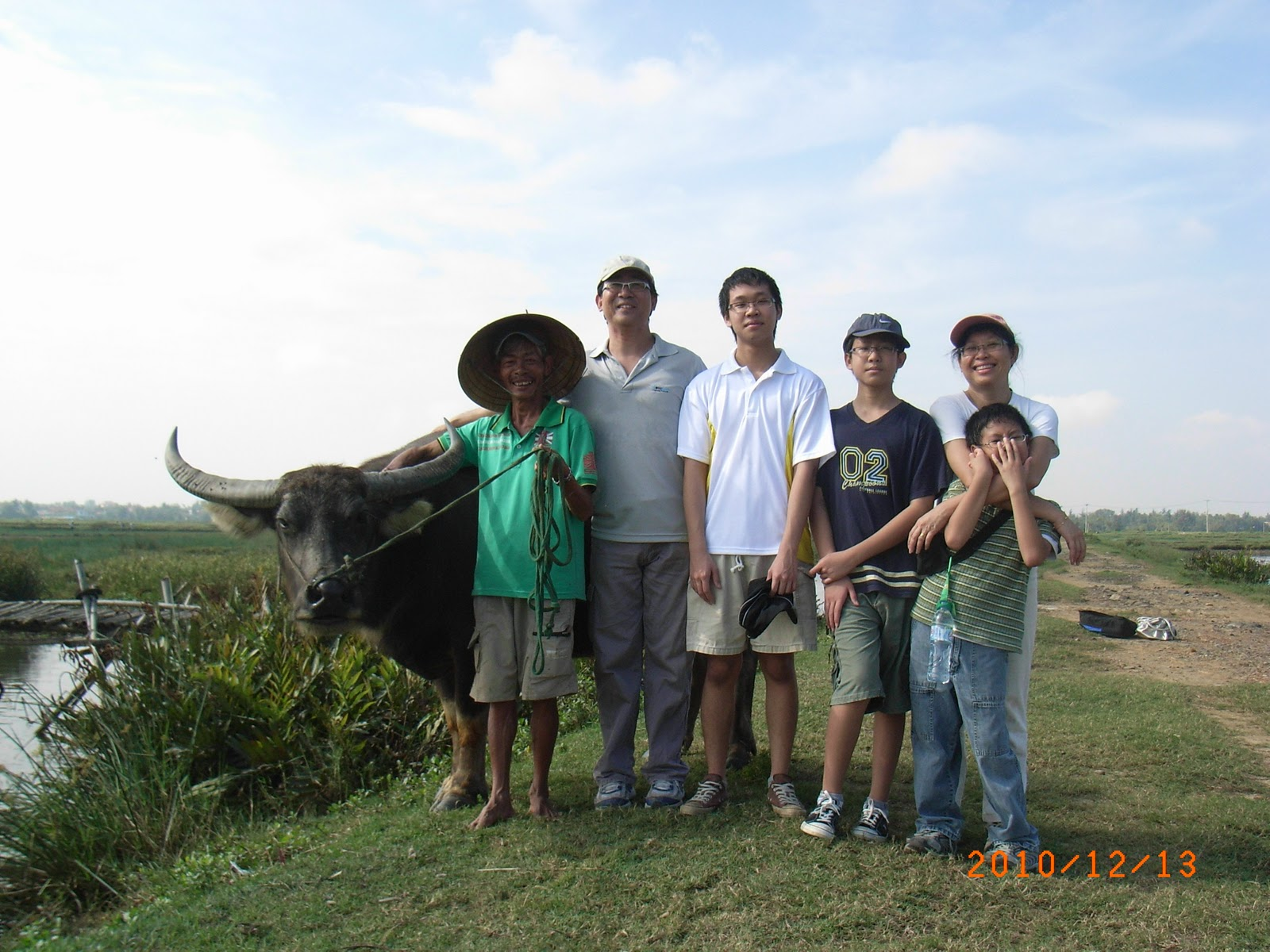 My family with the Water Buffalo handler