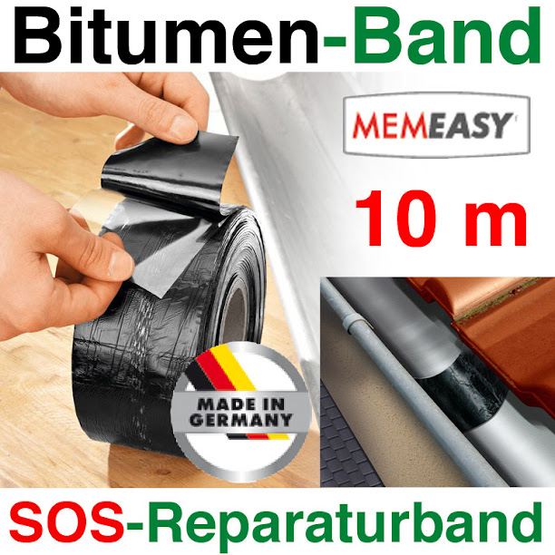bitumen band 10m x75mm reparatur band dach rinne. Black Bedroom Furniture Sets. Home Design Ideas