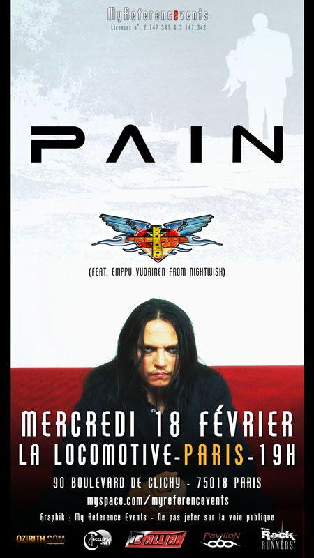 Pain + Brother Firetribe @ La Locomotive, Paris 18/02/2009