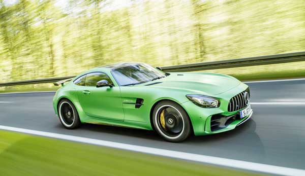 2018 Mercedes-Benz AMG GT display at Brooklands, UK