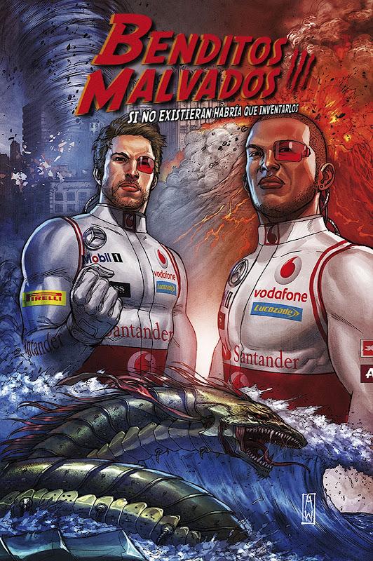 Дженсон Баттон Льюис Хэмилтон Vodafone комиксы видео Гран-при Испании 2012