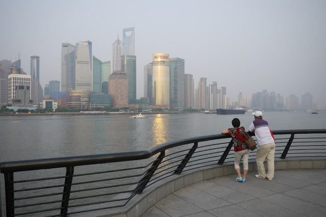 view of Shanghai's Pudong district from the other side of the river