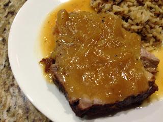 Braised Pork with Apple & Onion Gravy