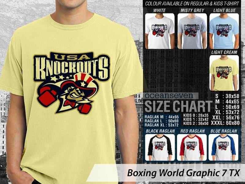 Kaos Olah Raga Sport Boxing World Graphic 7 distro ocean seven