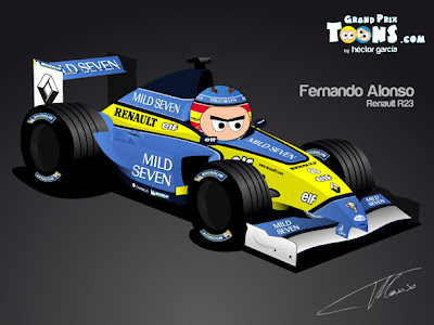 Фернандо Алонсо Renault R23 2003 by Grand Prix Toons