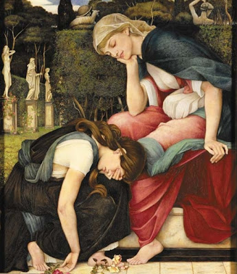 John Roddam Spencer Stanhope - Patience on a Monument smiling at Grief