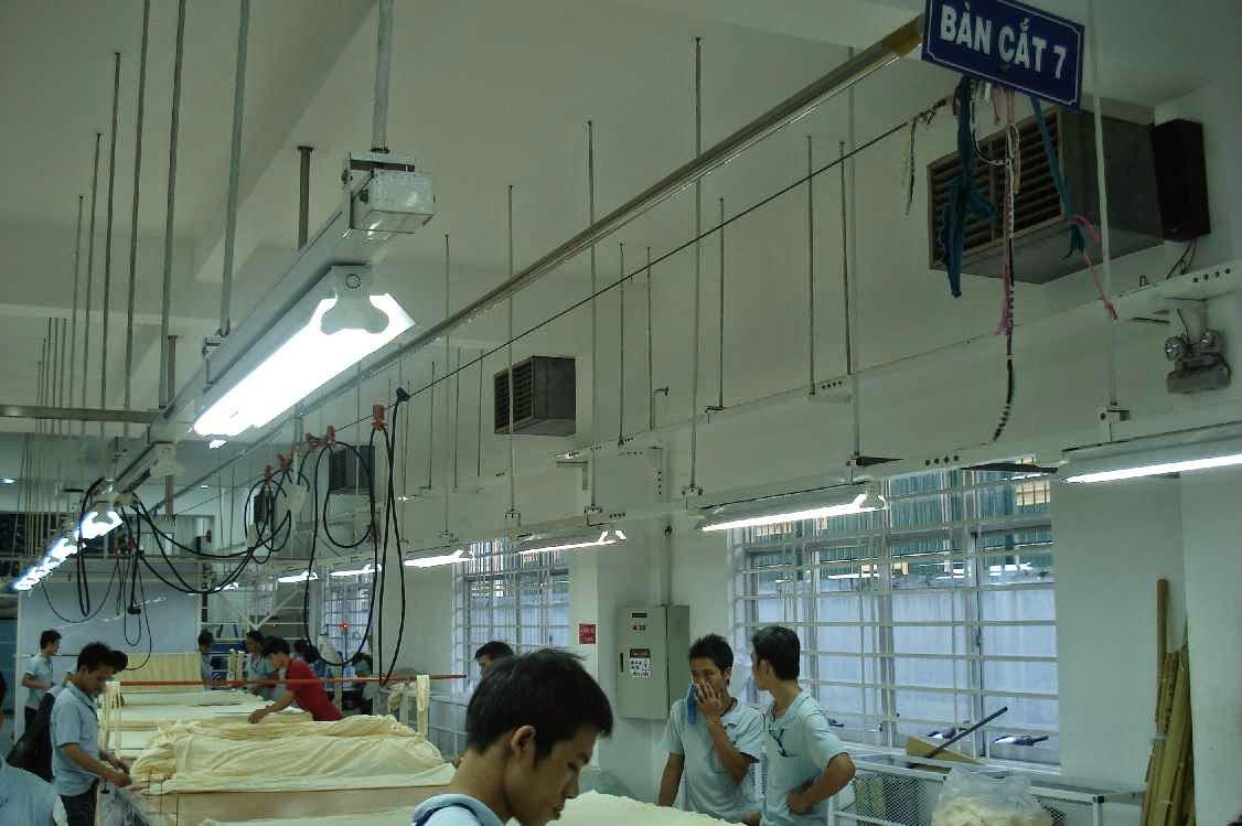 Dự án lắp đặt máy làm mát tại may AMPFIELD - Tân Bình