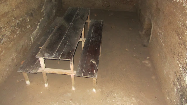 A public room in the Cu Chi tunnels.