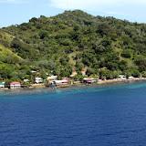 Approaching Roatan, Honduras