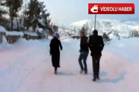 Çankırı'daki Kış Şartları Onların Eğitme Desteğine  Engel Ola