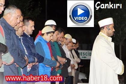 Çankırı'da Açık Havada Namazgahta Kılınan Teravi Namazlarında