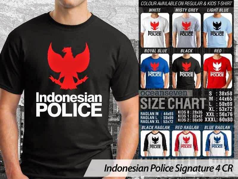 KAOS Militer Indonesian Police Signature 4 | KAOS Indonesian Police distro ocean seven