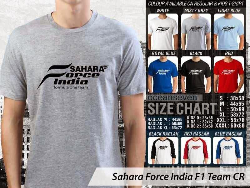 KAOS Sahara Force India F1 Logo Otomotif distro ocean seven