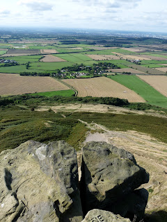 View from the top of Roseberry Topping