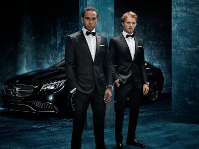 Льюис Хэмилтон и Нико Росберг - фотосессия Hugo Boss в честь анонса контракта с Mercedes