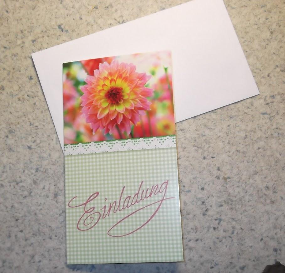 einladungskarten einladung karte blumen motive mit kuvert. Black Bedroom Furniture Sets. Home Design Ideas
