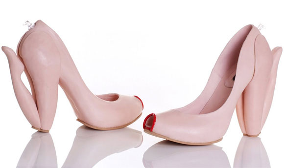 Shoes in the shape of naked women