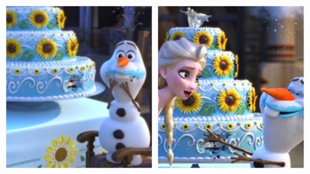I like to Make Things Ellies Frozen Birthday Cake