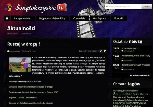 Ruszaj w Drogę na oficjalnym portalu turystycznym Świętokrzyskiego