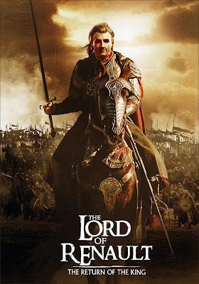 """Роберт Кубица на постере """"Властелин Рено. Возвращение Короля."""""""